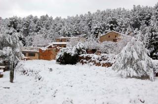 Foto de nieve sobre la Mateba