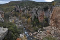 Destruccion de la zub de la Font seca desde los puentes Albentosa