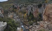 Destruccion del azub de la Font seca desde los puentes Albentosa